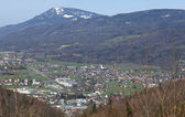 View from Bad Duerrnberg to Hallein and Salzburg in Austria — Stock Photo