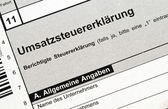 German tax form for VAT in front of a white background — 图库照片