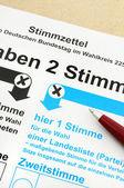 Balota de votante ausente para la elección alemana — Foto de Stock