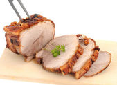 Typical Bavarian roast pork in a studio shot — 图库照片