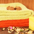 Towels for a spa treatment - Stockfoto