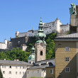 Hohensalzburg castle above the old town of Salzburg — Stock Photo