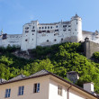 Stock Photo: Hohensalzburg castle above old town of Salzburg