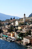 Limone at Lake Garda in Italy in early spring — Stock Photo
