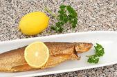 Smoked whitefish from the Bavarian Chiemsee — Stock Photo