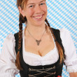 Woman with a Bavarian Dirndl — Stock Photo