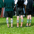 Traditional bavarian socks in Chiemgau — Stock Photo