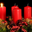 Advent wreath with red candles — Stok fotoğraf