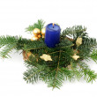 Stock Photo: Candleholder with blue candle