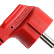 Red electric plug - Stockfoto