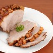 Typical Bavarian roast pork in a studio shot — Stock Photo
