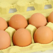 Eggs in an egg carton — Stock Photo