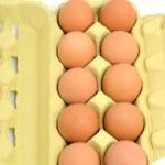 Eggs in an egg carton — Stock Photo