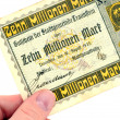 One billion German Marks — 图库照片