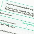 Official German tax form — Stock Photo