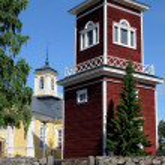 Church of Ahlainen — Stock Photo