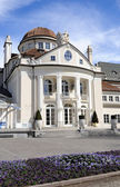 The Kurhaus, opened in 1874, is a landmark at Merano at South Tyrol — Stock Photo