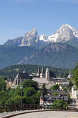 The protestantic Christuskirche at Berchtesgaden — Stock Photo