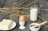 Healthy products for the breakfast — Stock Photo