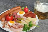 Sausage platter — Stock Photo