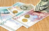 Kronen tegen dollar — Stockfoto