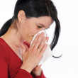 Woman has caught a flu — Stock Photo #13337442