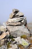 Stone cairn — Stock Photo