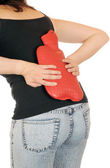 Mladá štíhlá žena má backage — Stock fotografie