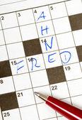 クロスワード パズル — ストック写真