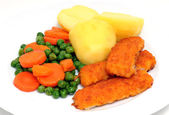 Fish fingers — Foto Stock
