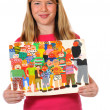 Stock Photo: Childrens paintings