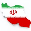 Iran flag on 3d map — Stock Photo #28157503