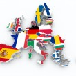 Map europe union state flags on white isolated — Stock Photo #30114145