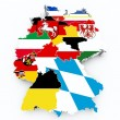 Stock Photo: Map germany state flags