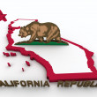 California 3d map — Stock Photo