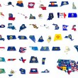 Usa state flags on 3d maps — Stock fotografie