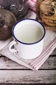 Cup of fresh milk — Stock Photo