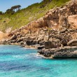 Mediterranean sea and rocky coast of Spain Mallorca island — Stock Photo