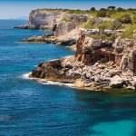 Mediterranean sea and rocky coast of Spain Mallorca island — Stock Photo