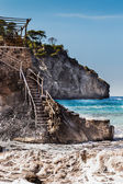 Sea and stone stairs on Spain Mallorca island — Stock Photo