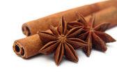 Stars anise and cinnamon sticks — Stock Photo