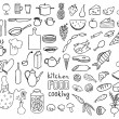 Stock Vector: Food and cooking icons vector collection