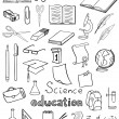 Science and education icons vector collection — Stock Vector #12753707