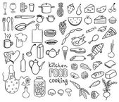 Food and cooking icons vector collection — Stock Vector