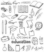 Science and education icons vector collection — Stock Vector