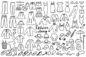 Fashion and clothing icons vector collection — Stock Vector
