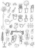 Garten-ringelblume icons vektor-sammlung — Stockvektor