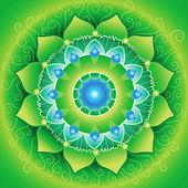 Mandala kalp çakra — Stok Vektör