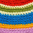 Colorful Home Made Rug Mat — Stock Photo