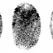 Different black fingerprints, vector - Imagens vectoriais em stock